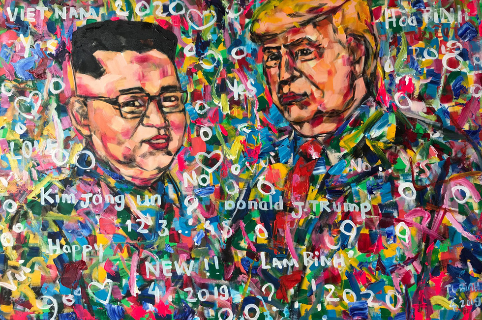 Vietnamese artist to showcase part of 50-piece collection of Trump portraits in Florence exhibition