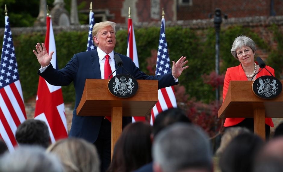 Donald Trump wades into Britain's Brexit crisis