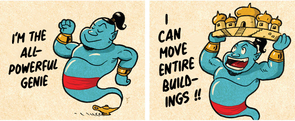 Cartoon: Aladdin's Genie works his magic in Vietnam