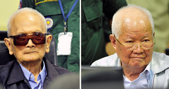 Former Khmer Rouge leaders stand trial at a court in Cambodia in 2018. Photo: Reuters
