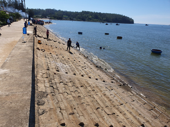 The beach is given a facelift following the activity. Photo: Tran Mai / Tuoi Tre