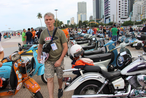 Vintage Vespa scooters showcased in Nha Trang