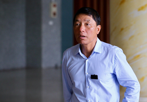 Tran Viet Tan, former deputy minister of Vietnam's Ministry of Public Security, arrives at a court in Hanoi on June 13, 2019. Photo: Nguyen Khanh / Tuoi Tre