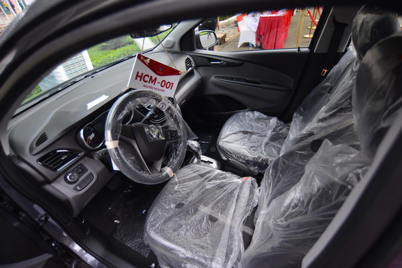 Inside a Fadil car showcased at VinFast's delivery ceremony in Ho Chi Minh City on June 17, 2019. Photo: Quang Dinh / Tuoi Tre