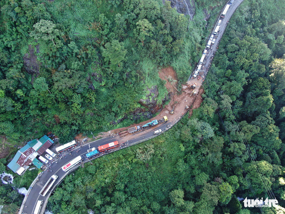 An aerial view of the landslide in Lam Dong, Vietnam's Central Highlands, June 19, 2019. Photo: Phan Tan Dat / Tuoi Tre
