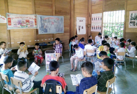 Mini-library for summer in Vietnam's mountainous region