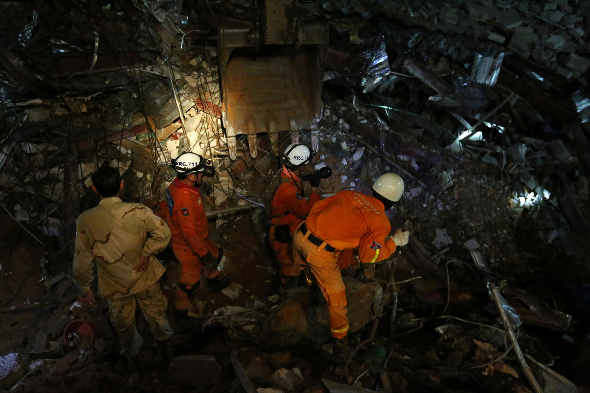 Thirteen dead, 23 injured in Cambodia building collapse