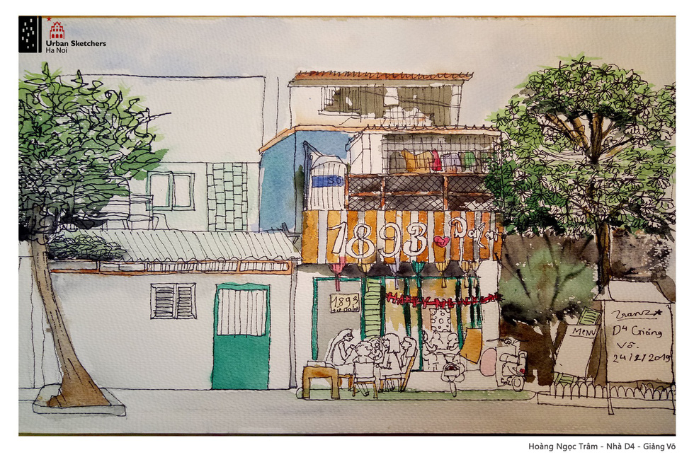Old Hanoi looks bright in children's sketches