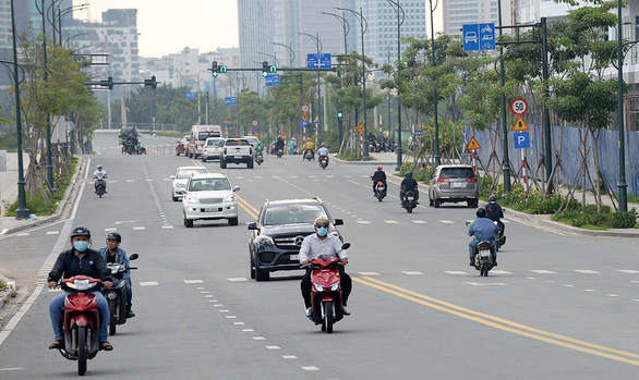 One of the four major streets in the Thu Thiem New Urban Area in District 2, Ho Chi Minh City. Photo: T.T.D. / Tuoi Tre