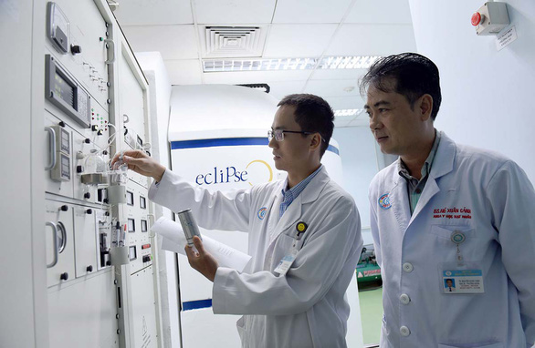 The FDG machine at Cho Ray Hospital. Photo: Duyen Phan / Tuoi Tre