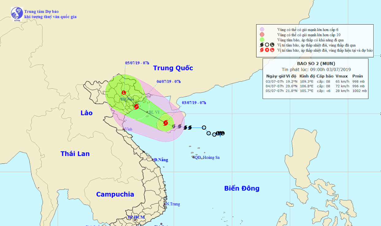 Tropical storm to unleash torrential rain on northern, north-central Vietnam