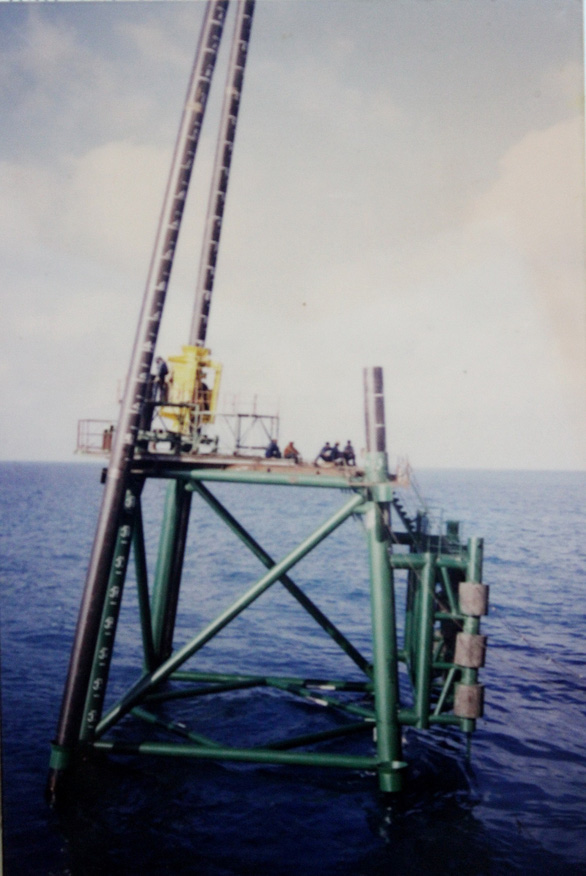 One of the DK1 rigs off Vietnam's Truong Sa (Spratly) archipelago in the East Vietnam Sea is being installed in this file photo.