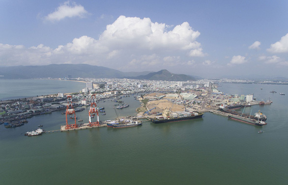 An aerial photo of the Quy Nhon Port in Binh Dinh Province, Vietnam. Photo: Nguyen Dung / Tuoi Tre