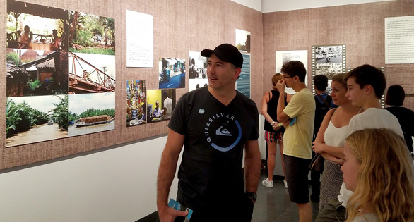 Visitors photos taken by Luisa Duggan at the War Remnants Museum in Ho Chi Minh City on July 9, 2019. Photo: Lam Dien / Tuoi Tre