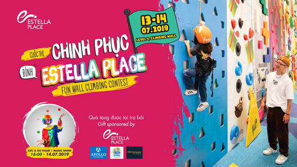 Estella Place holds indoor rock climbing competition for children to 'conquer new heights'