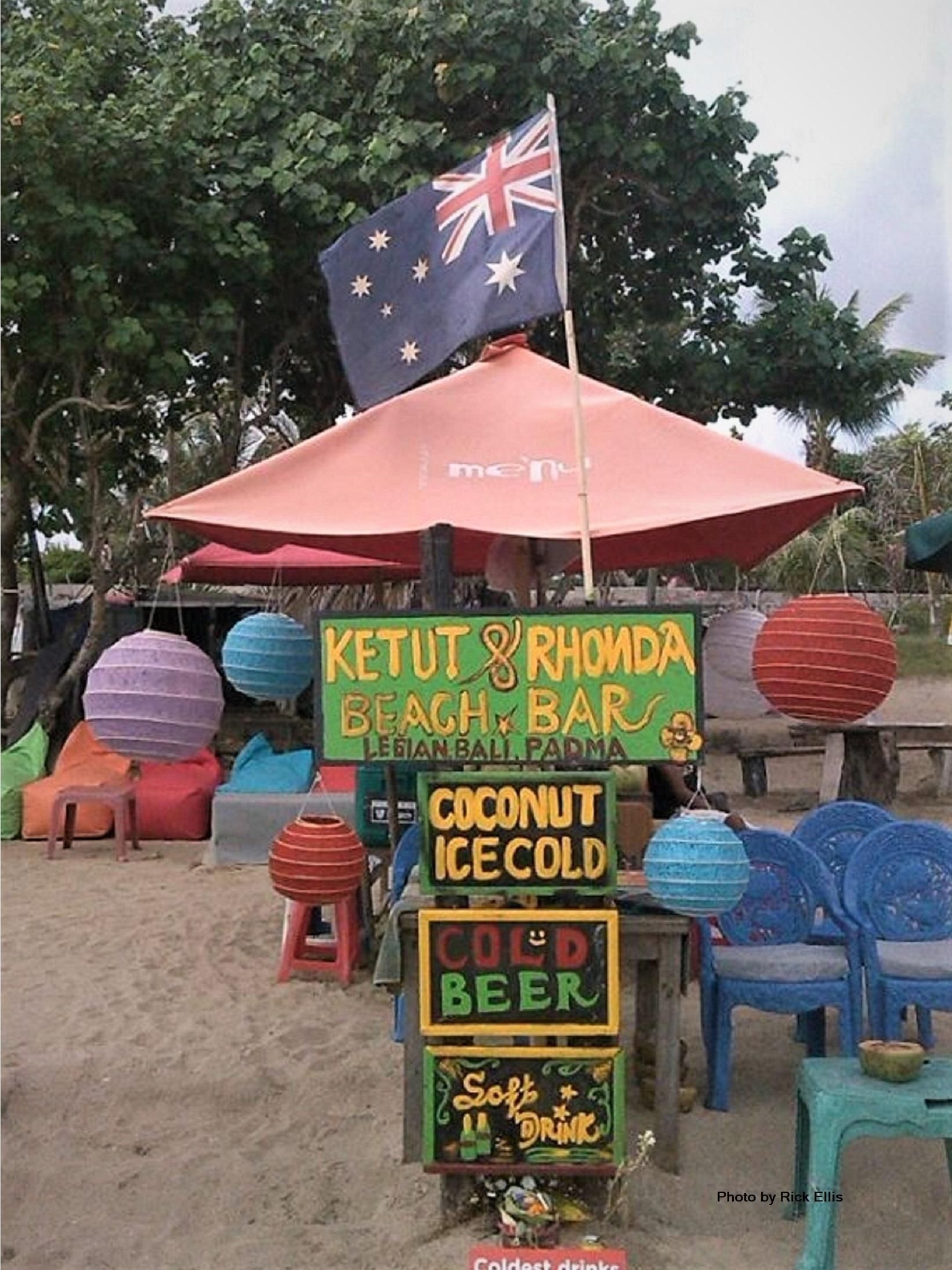 A typical Balinese beach bar