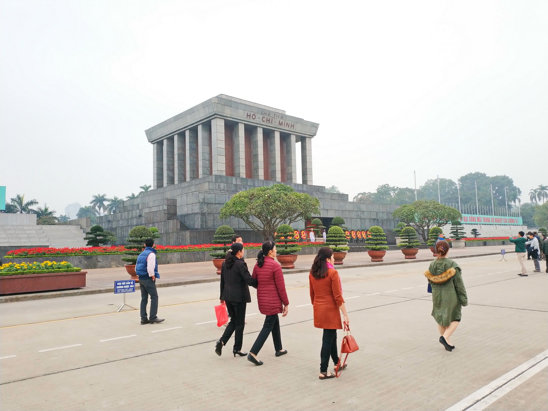 The Ho Chi Minh City Mausoleum in Hanoi. Photo: Tuan Son / Tuoi Tre News