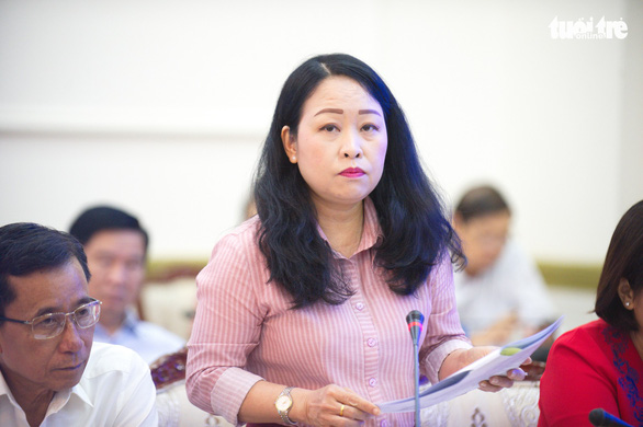Le Ngoc Thuy Trang, deputy director of Ho Chi Minh City Department of Finance. Photo: Tu Trung / Tuoi Tre