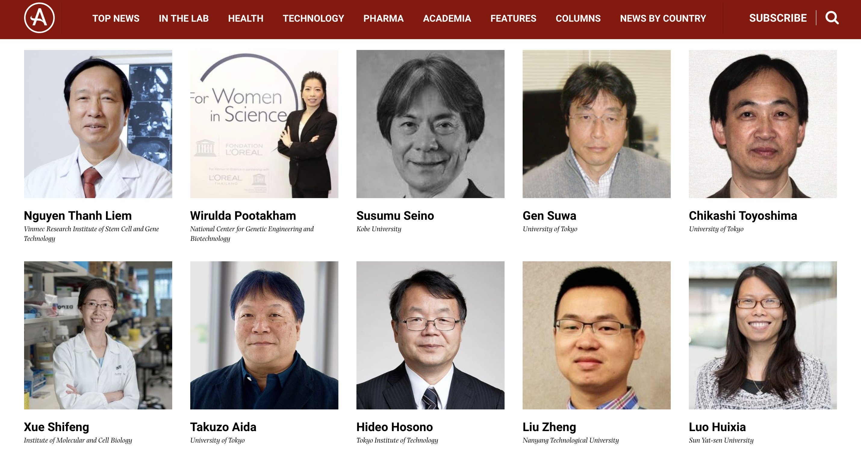 Two Vietnamese academics in list of top 100 Asian scientists