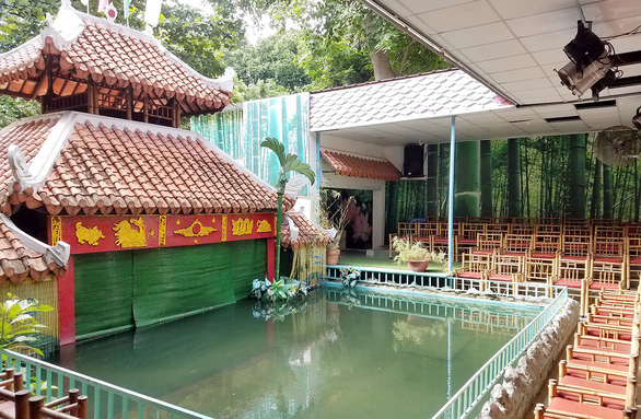 A water puppetry stage is unvisited at the Museum of Vietnamese History located on Nguyen Binh Khiem Street in District 1, Ho Chi Minh City. Photo: Duyen Phan / Tuoi Tre