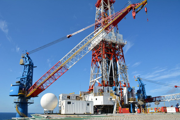 Japan's oil rig Hakuryu-5. Photo: PetroVietnam