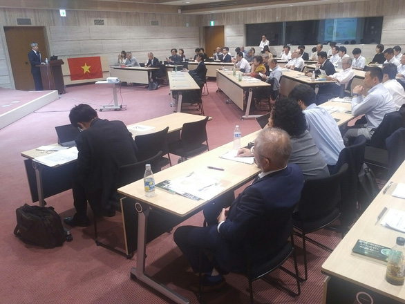 Many Japanese businesses, politicians, and environmental activists engaged in a forum on sustainable development in Ishikawa Prefecture, Japan, on August 6, 2019. Photo: Tien Trinh / Tuoi Tre