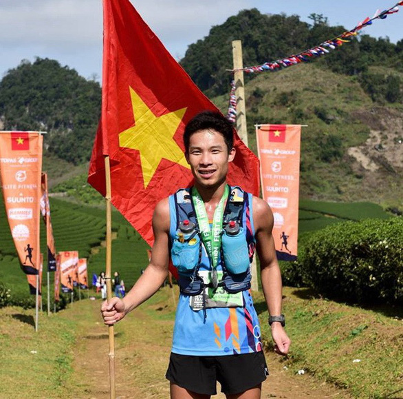 Nong Van Chuyen races at the Vietnam Mountain Marathon 2017 in Sa Pa in the mountainous province of Lao Cai, in this provided photo