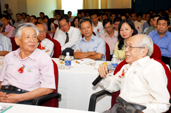 Duong Quang Thien attends an event in 2008. Photo: H.T.Van / Tuoi Tre