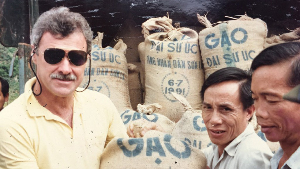 Australian Ambassador to Vietnam Graham Alliband is pictured during a trip to deliver food aide in northern Vietnam in this file photo. Photo: Supplied