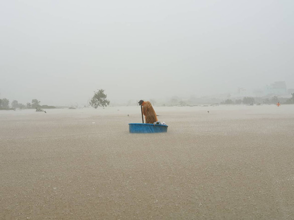A severely inundated area in Phu Quoc. Photo: Duy Khanh / Tuoi Tre