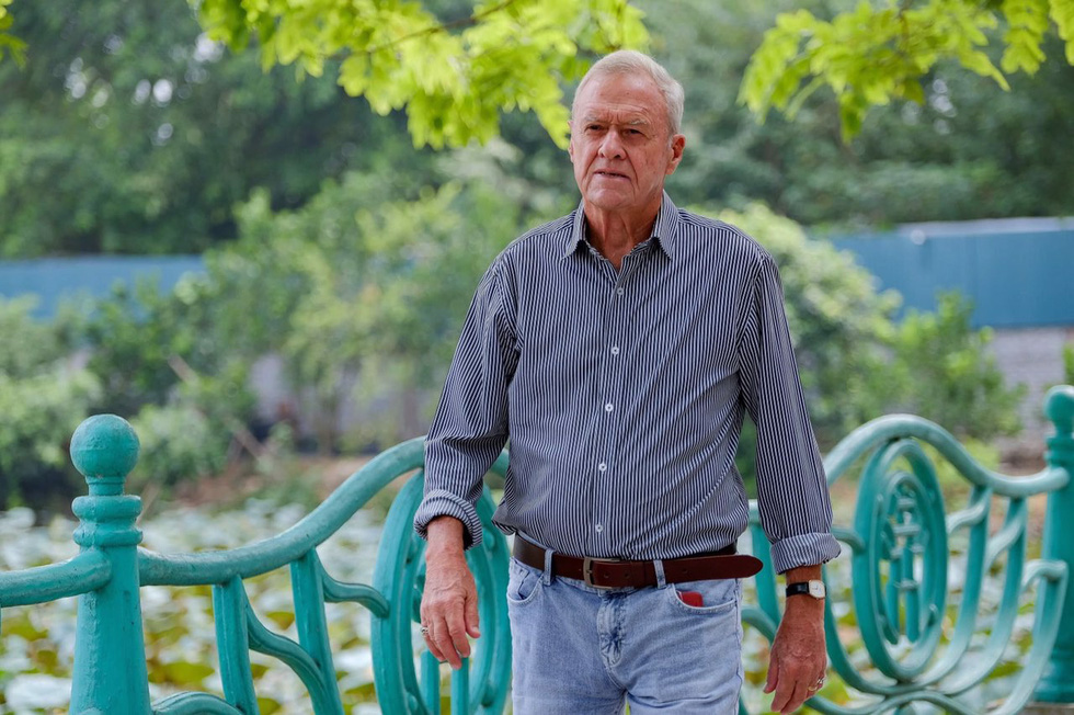 Former Australian Ambassador to Vietnam Graham Alliband is pictured in Hanoi in July 2019. Photo: Nam Tran / Tuoi Tre