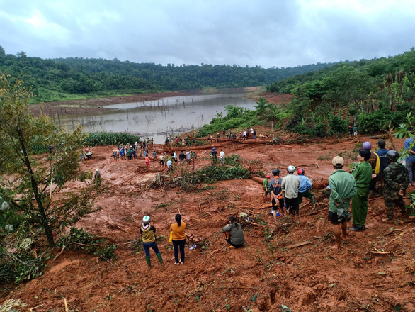 The aftermath of a landslide in Dak Nong Province on August 8, 2019. Photo: L.B. / Tuoi Tre