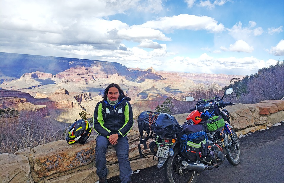 Vietnamese man visits 50 countries, and counting, on motorbike