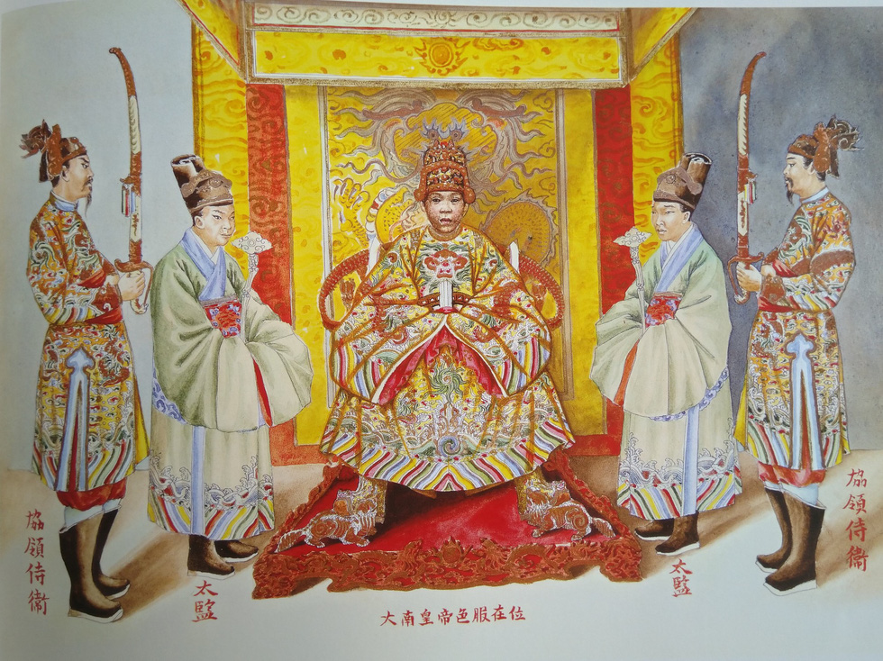 Author recalls years-long work on book of royal costumes of Vietnam's last monarchy
