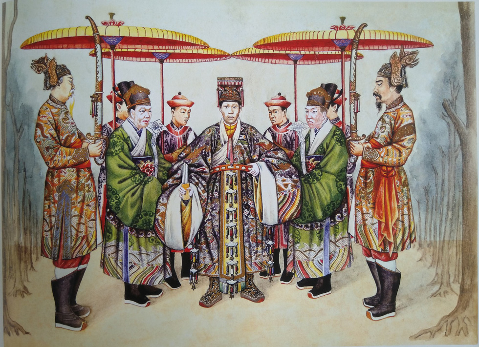 A royal costume of the king for a worship ceremony during the Nguyen Dynasty