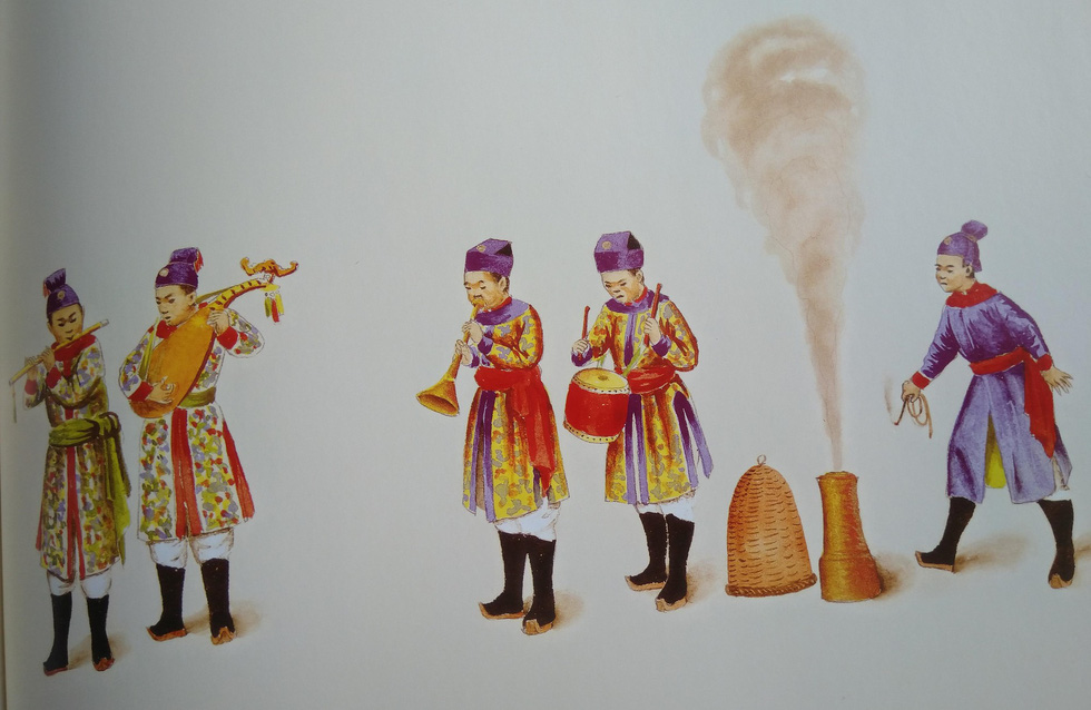 Royal costumes for musicians, drummers, and firecrackers attendant