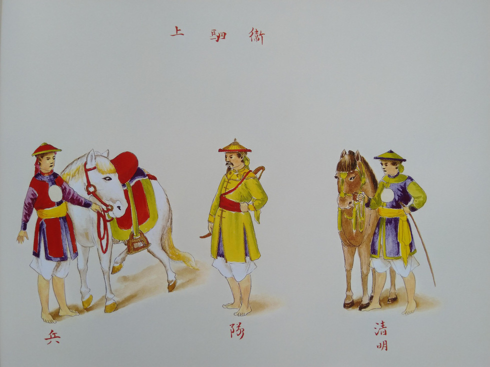 Royal costumes for horse attendants