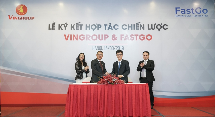 Vingroup, FastGo team up to have cars used in ride-hailing services