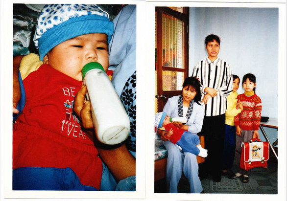Nguyen Thi Thu Huong is seen in pictures taken when she was little. Photo: Supplied