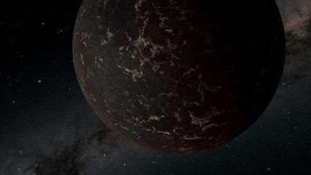 An artist's conception of an exoplanet beyond our own solar system known to astronomers as LHS 3844b, which lies about 48.6 light years from earth. Photo: Reuters
