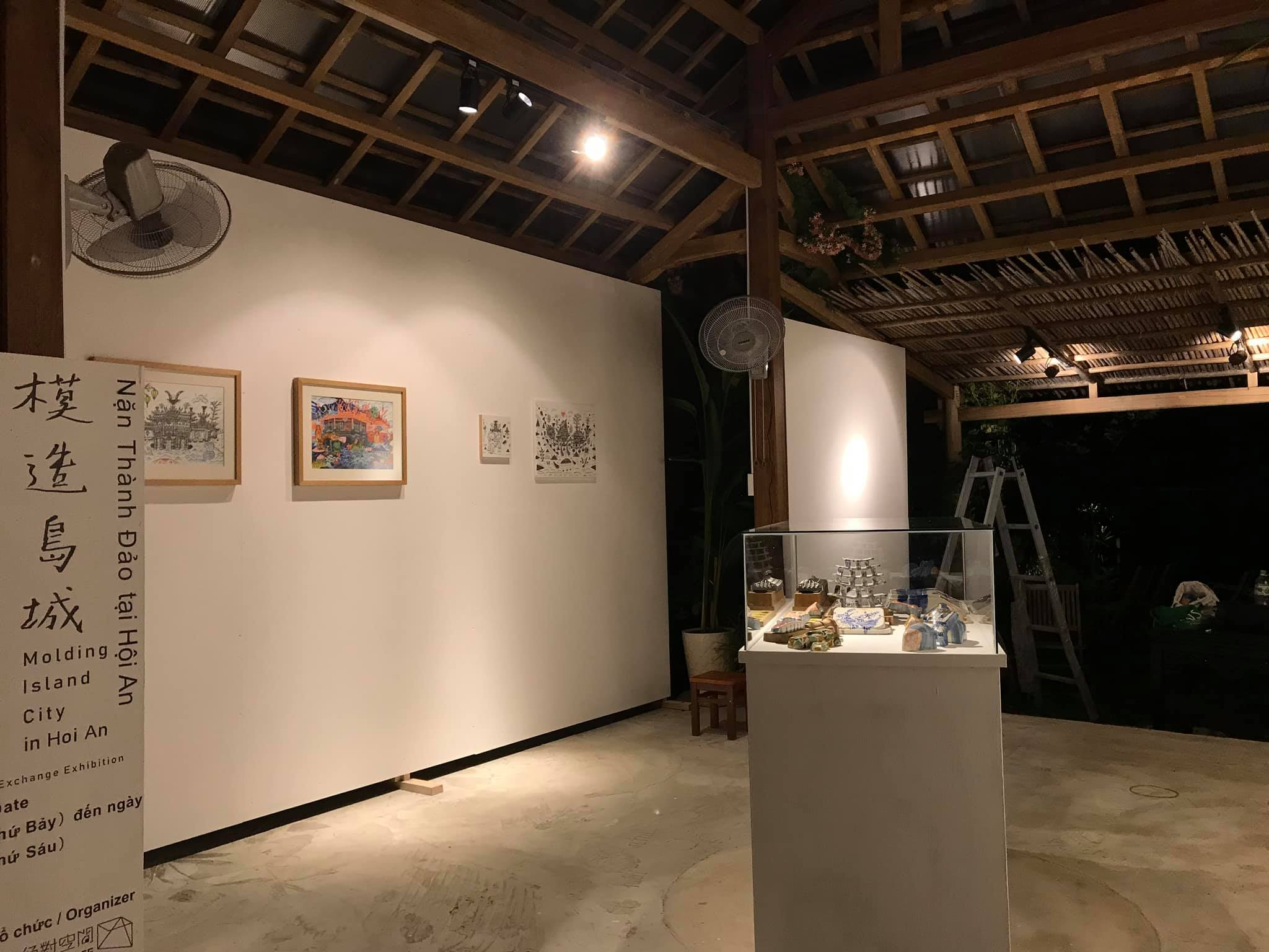 Artworks are displayed at the Molding Island City exhibition in Hoi An, central Vietnam