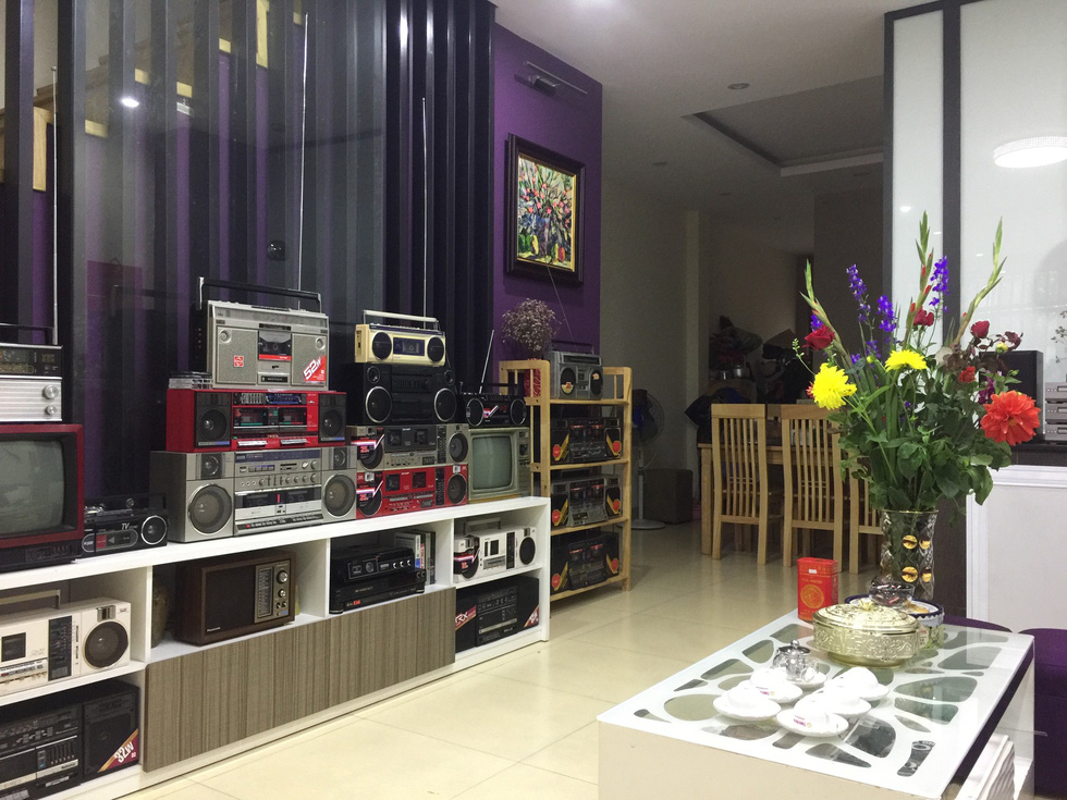 Xuan Thuy stores a collection of over 1,000 cassette players inside his house in Hanoi. Photo: Supplied