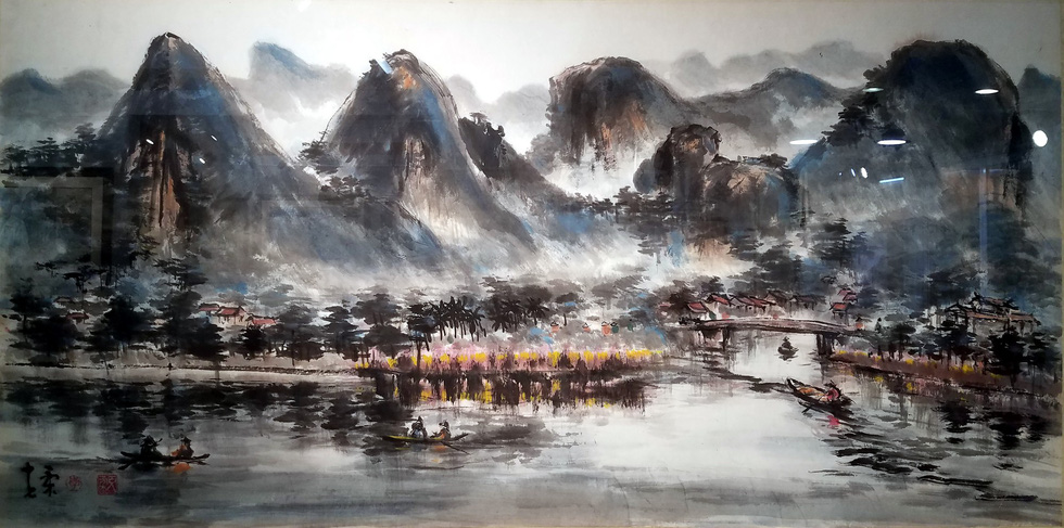 Exhibition showcases ink wash paintings in Ho Chi Minh City