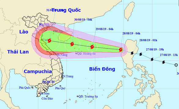 Storm Podul to bring downpours to northern, north-central Vietnam ahead of National Day