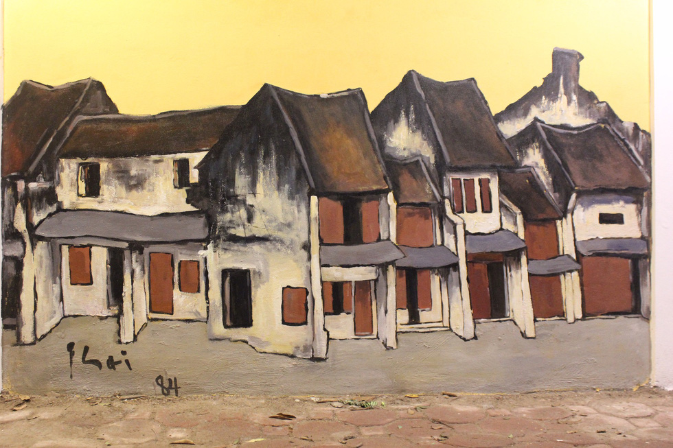 A famous artwork of Bui Xuan Phai. Photo: Thien Dieu / Tuoi Tre