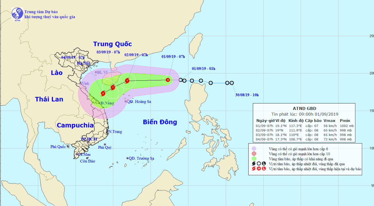 Fresh tropical depression enters East Vietnam Sea, likely to become storm