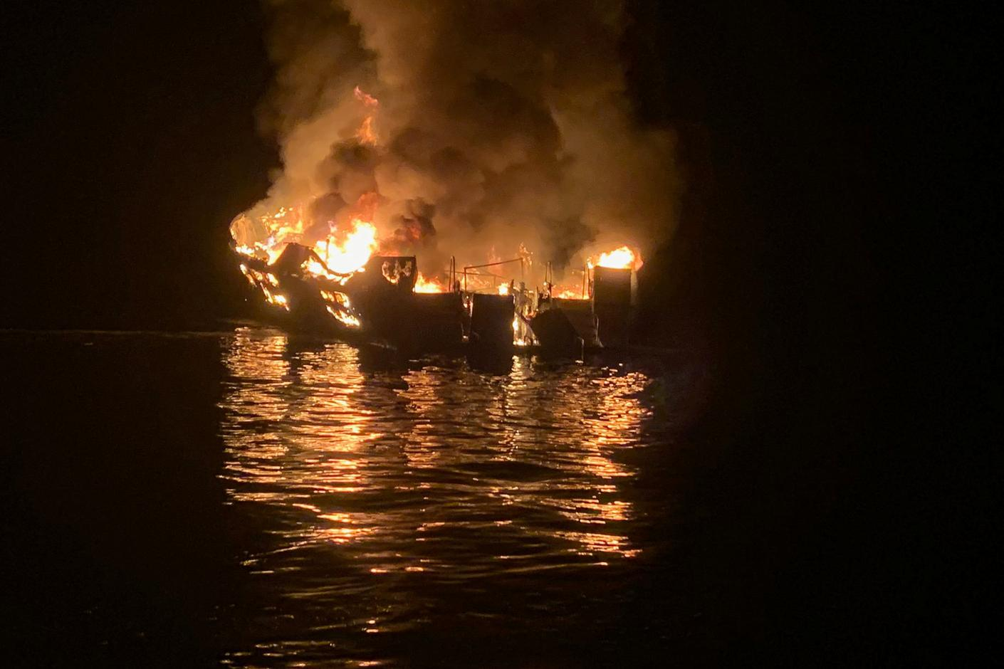 At least eight dead from California boat fire, 26 missing
