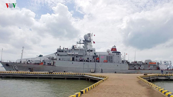 Guard ship No.18 of the Vietnam People's Navy. Photo: VOV