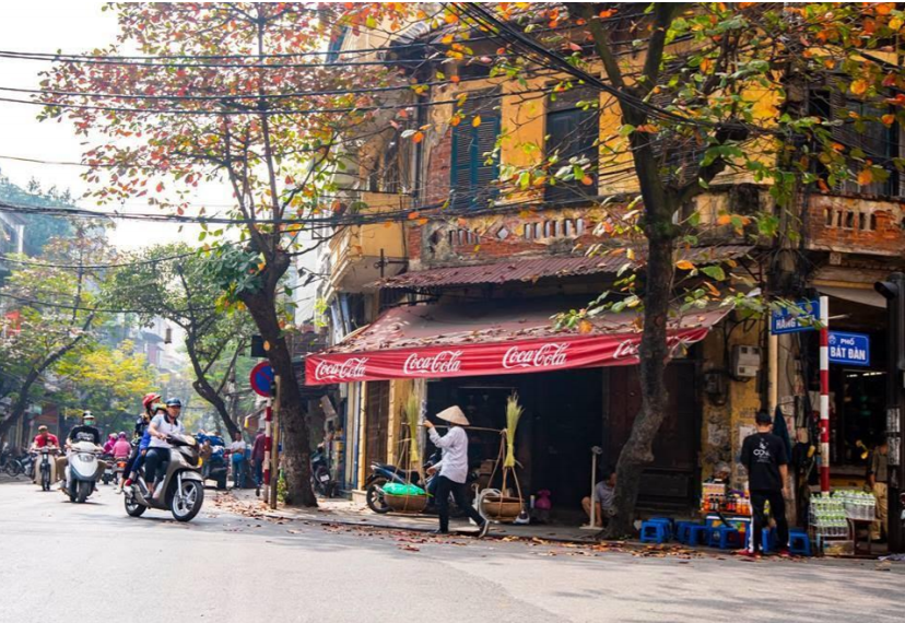 An old corner of Hanoi where lots of cultural activities take place. Photo: Luu Thuy Linh
