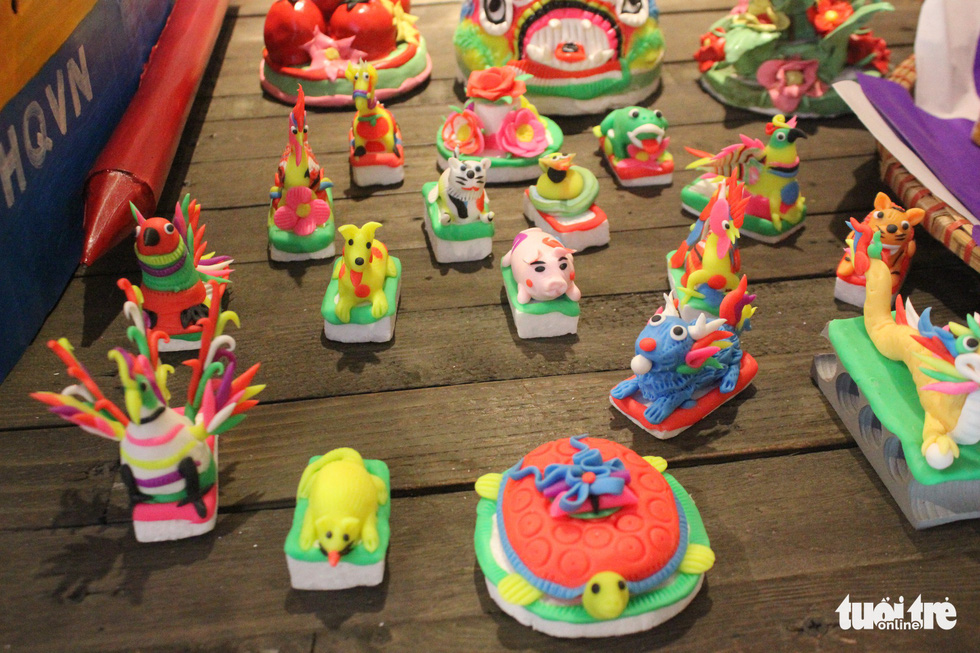 Traditional toys are on display at a Mid-Autumn Festival in Hanoi, September 6, 2019. Photo: Thien Dieu / Tuoi Tre